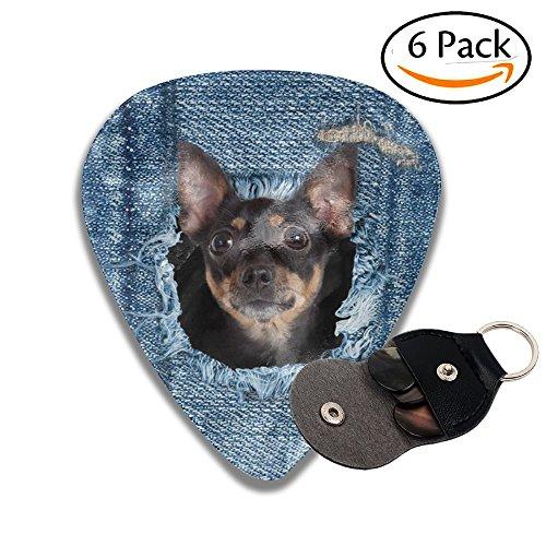 カウボーイ 犬 ピック ベース ギター用のピック 弦楽器 それぞれ厚さ 6枚セット スタイリッシュ ピックケース付き