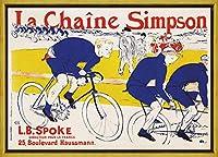 フレーム Henri De Toulouse Lautrec ジクレープリント キャンバス 印刷 複製画 絵画 ポスター(シンプソンチェーン) #XLK