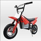 250W搭載電動ポケバイ モトクロスモデル ダートバイクタイプポケットバイク レッド CR-DBE01
