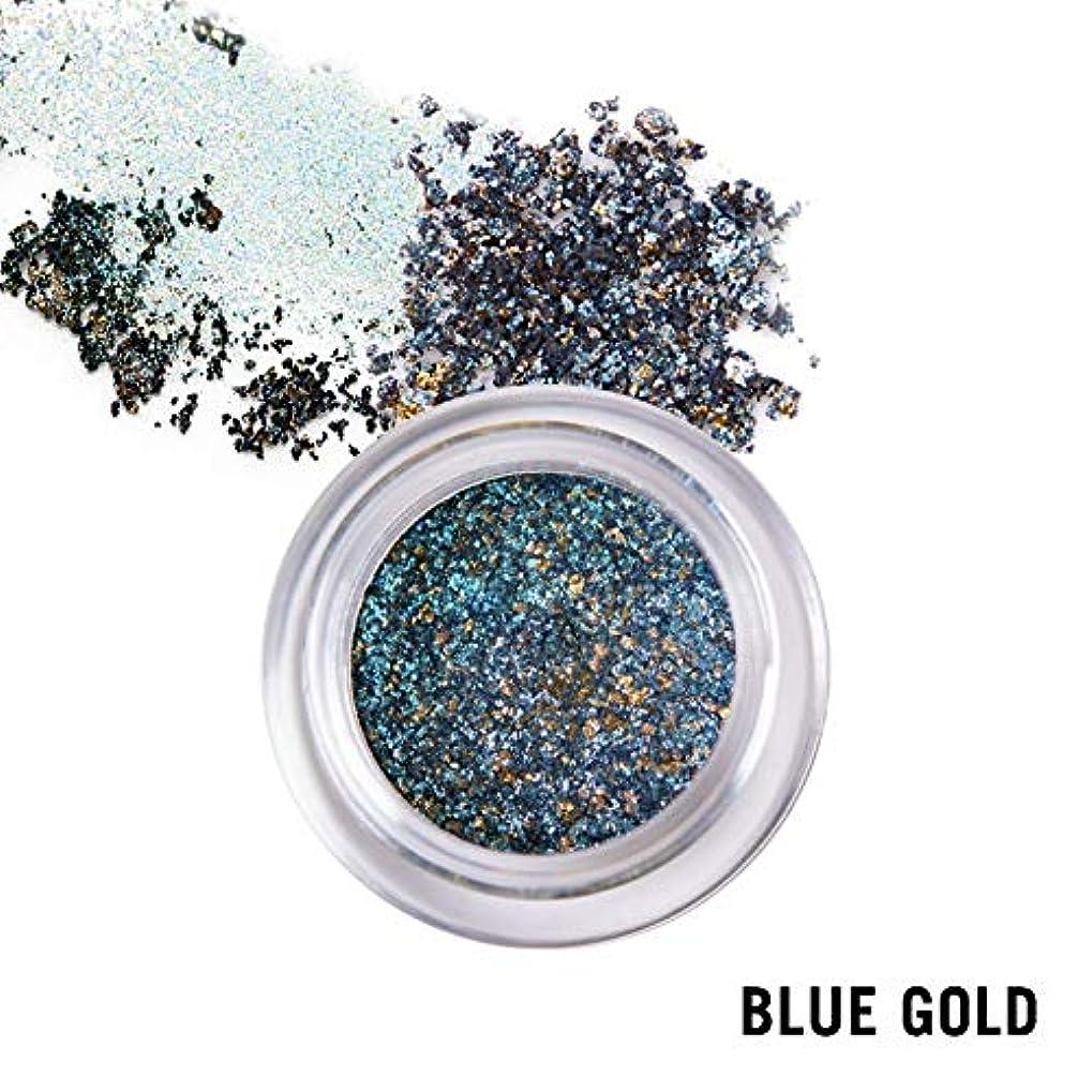 マダム酸化物夜間ウィッチズポーチ プリズムカラーピグメント ブルー×ゴールド