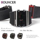 バウンサー(BOUNCER) メンズ 腕時計 ビックフェイス LEDデジタルウォッチ 防水 2947G
