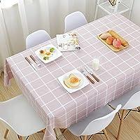 YONGJUN 正方形の長方形のテーブルクロス、家庭用の防水と防油のテーブルクロス、PVCプラスチック製テーブルカバー、4色 (色 : Pink, サイズ さいず : 120*170cm)