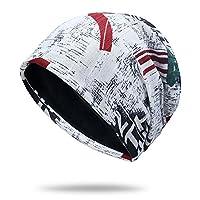 Roffatide ユニセックス フリース 暖かい ニット帽 ニットキャップ 柔らかい ビーニー ハット スキー 乗る 防風 スカーフ 11パターン H