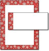 Snowy Flakesレターヘッド&封筒–40セット