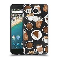 Head Case Designs ケーキ&コーヒー フレンチカフェ LG Nexus 5X 専用ソフトジェルケース