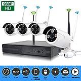 SIBO 130万画素屋内/屋外4chワイヤレスWIFI NVRキットHD 1280×960P赤外線ナイトビジョンカメラP2P CCTVセキュリティ監視システム SB-WIFIKIT04-960P