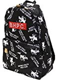 (ビバリーヒルズポロクラブ)BEVERLY HILLS POLO CLUB BHPCロゴプリントリュック(リュックサック デイパック) ブラック