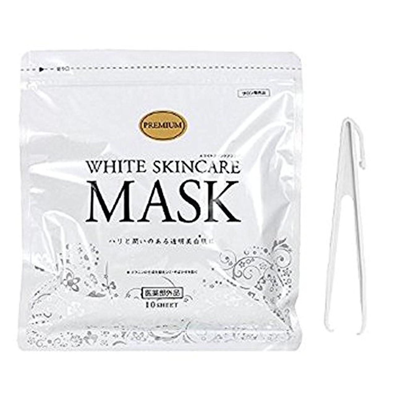 しかしながら型倒産ホワイトスキンケアマスク 10枚入