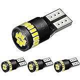 AUXITO T10 LED ホワイト 爆光 4個 キャンセラー内蔵 LED T10 車検対応 3014LEDチップ24連 12V 車用 ポジション ナンバー灯 ルームランプ (一年保証)