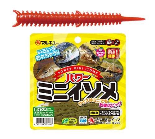 マルキュー(MARUKYU) ワーム パワーミニイソメ 約4.5cm 赤イソメ ルアー