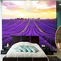 Xueshao 3 D壁紙壁画3 D美しい紫色のラベンダーの花畑写真寝具部屋テレビの背景壁紙家の装飾-150X120Cm