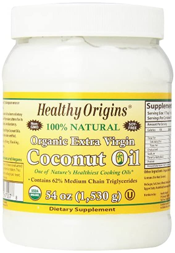 差別化する先見の明特異な海外直送品Organic Extra Virgin Coconut Oil, 54 Oz by Healthy Origins