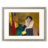 フェリックス・ヴァロットン Félix Edouard Vallotton 「Woman and Guitar. 1913」 額装アート作品