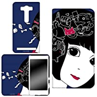 ZenFone Selfie ZD551KL ゼンフォン セルフィ スマホケース 手帳型 ケース 手帳 カバー スマホカバー 両面プリント手帳 hare. うさぎB (hr-017) WHITENUTS TC-C1215889_LL