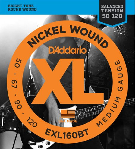 D'Addario ダダリオ ベース弦 ニッケル バランスドテンション Long Scale .050-.120 EXL160BT 【国内正規品】