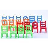 Fenteer 約18個入り 知育おもちゃ ミニ プラスチック 椅子 家具 子供 贈り物 アクセサリー マルチカラー 5センチメートル