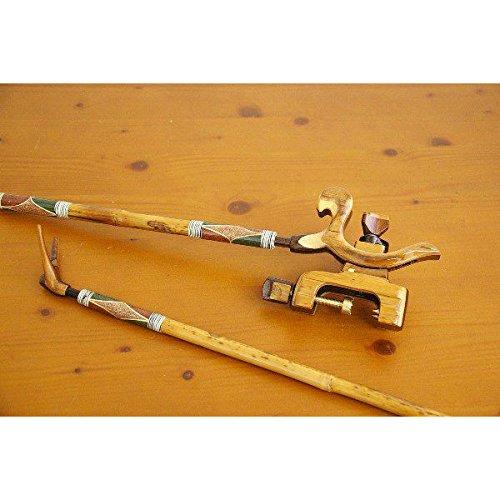 竹製竿掛け 短竿1本半 + 竹張弓万力セット