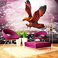 Jason Ming 壁紙3D壁紙カスタム壁画ロマンチックレッドフライングイーグルバルコニーリビングルーム装飾背景150X120Cm
