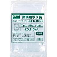 TRUSCO(トラスコ) 業務用ポリ袋0.15×20L 5枚入 U-0020