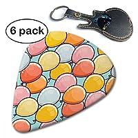 ピック ギターピック ティアドロップ ピック JAZZ タイプ バルーン 色彩 気球 収納ケース セット トライアングル セルロイド スムーズ 弦楽器 6枚