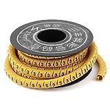 uxcell ケーブルマーカーリール PVC ワイヤラベル ケーブルタグ 番号付き 電気