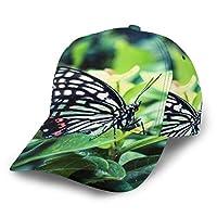 キャップ 野球帽 ゴルフ帽子 スポーツ帽子 UVカットカジュアル 男女兼用 アウトドア 調整可 アゲハチョウ