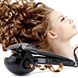 Magic Automatic Curling Hair Curler Iron Curl Wave Machine Professional Ceramic Curling Wand with LCD AU Plug Black for All H