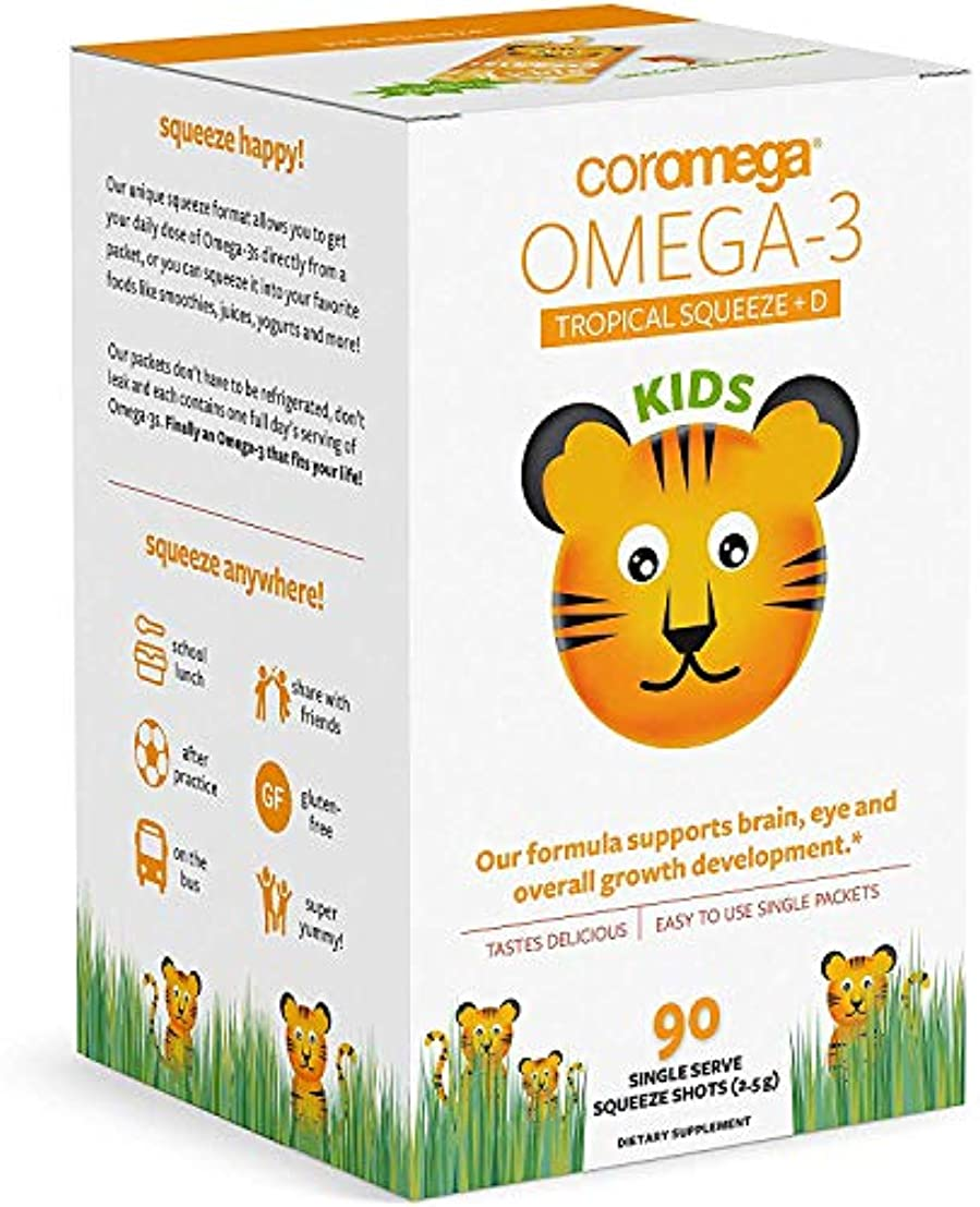 閉じるマオリアライアンスCoromega - Omega-3 熱帯オレンジをからかう - 90個のシングルサーブパケットX 1 パック [並行輸入品]