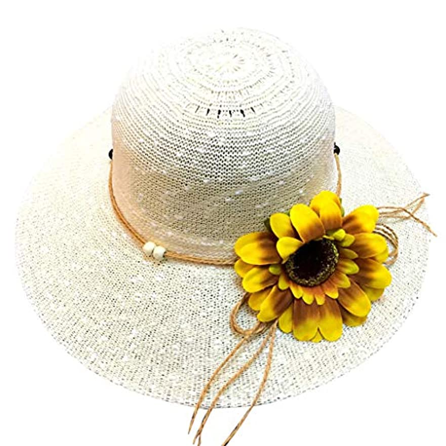 優遇リングバック起訴する帽子 レディース アウトドア 夏 春 UVカット 帽子 ハット 漁師帽 日焼け防止 つば広 紫外線対策 大きいサイズ ひまわり 可愛い ハット 旅行用 日よけ 夏季 ビーチ 無地 ハット レディース 女性 ROSE ROMAN
