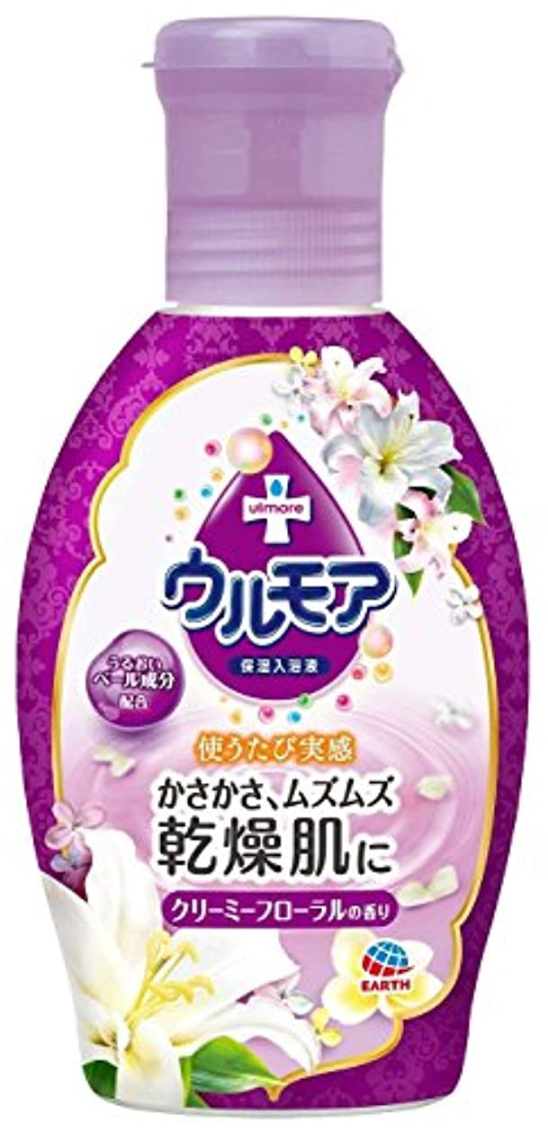 【アース製薬】アース 保湿入浴液 ウルモア クリーミーフローラル 600ml ×5個セット