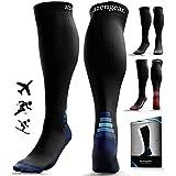 Compression Socks for Women & Men (20-30 mmHg) Best for Flight Travel, Running, Skiing, Athletics, Nurses, Shin Splints, Pregnancy & Improved Blood Circulation