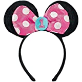 1st Birthday Minnie Mouse Party Supplies Ears Headband Minnie Fun to be One