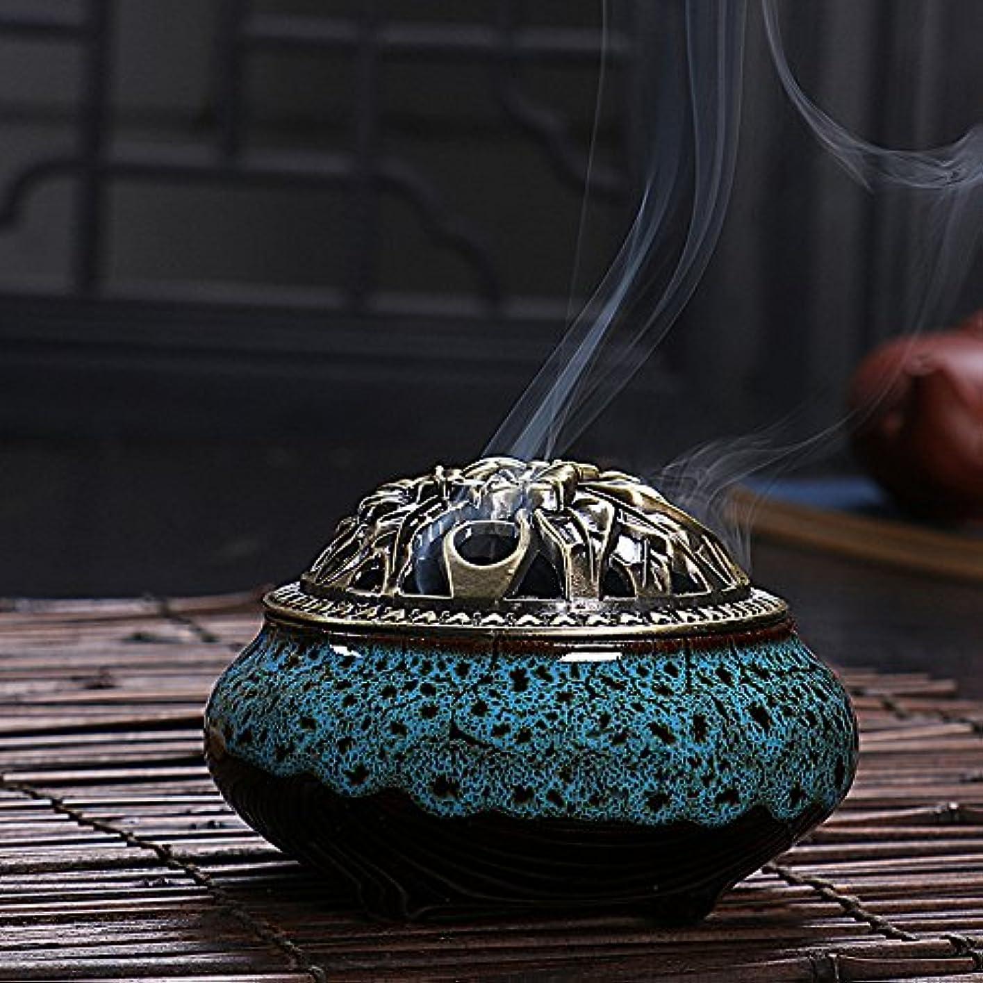 熟読する回転させる無視(Diamond Blue, One Size) - Ceramic Home Decration Incense Sticks or Cones Burner Porcelain Incense Holder