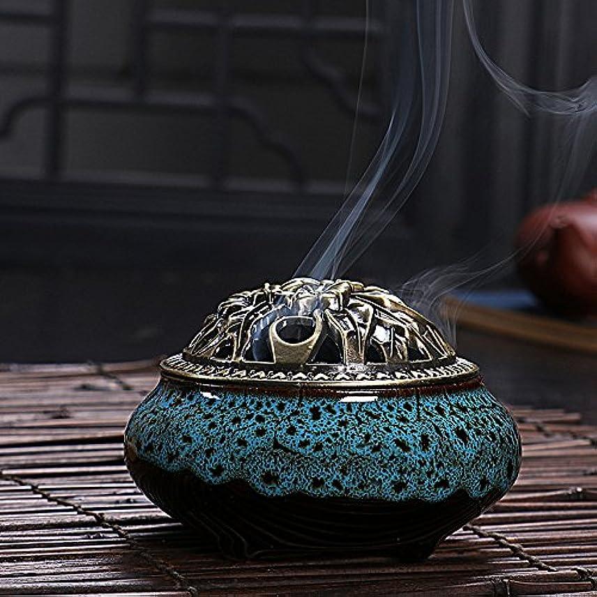 好色な金銭的グリル(Diamond Blue, One Size) - Ceramic Home Decration Incense Sticks or Cones Burner Porcelain Incense Holder