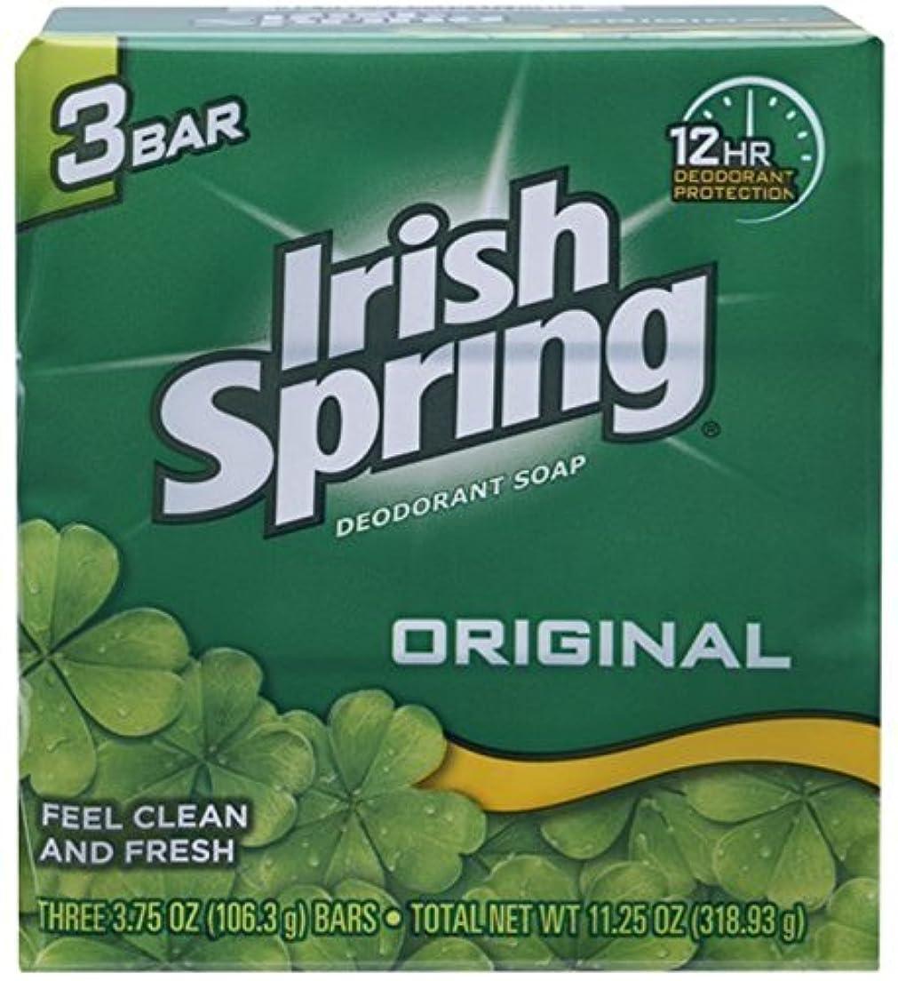 チューインガムくつろぐヒューマニスティックIrish Spring デオドラント石鹸、オリジナル、3.75オズバー、3 Eaは(12パック)