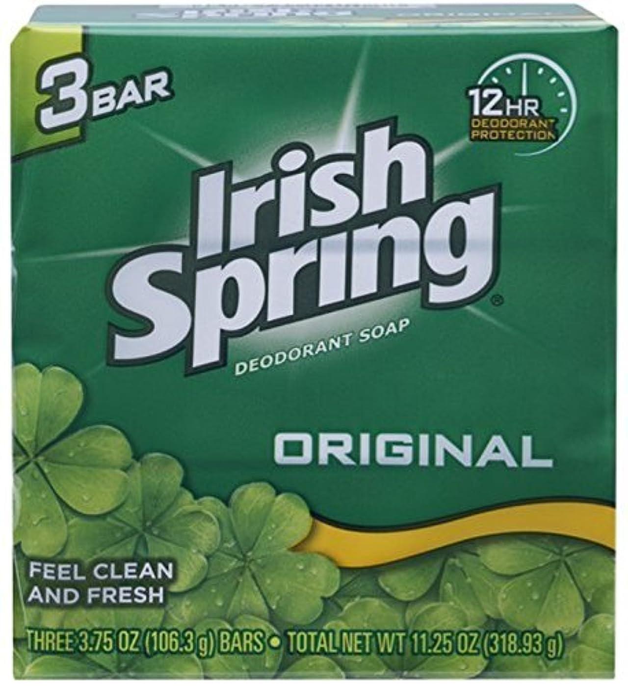プラス出来事コットンIrish Spring デオドラント石鹸、オリジナル、3.75オズバー、3 Eaは(12パック)