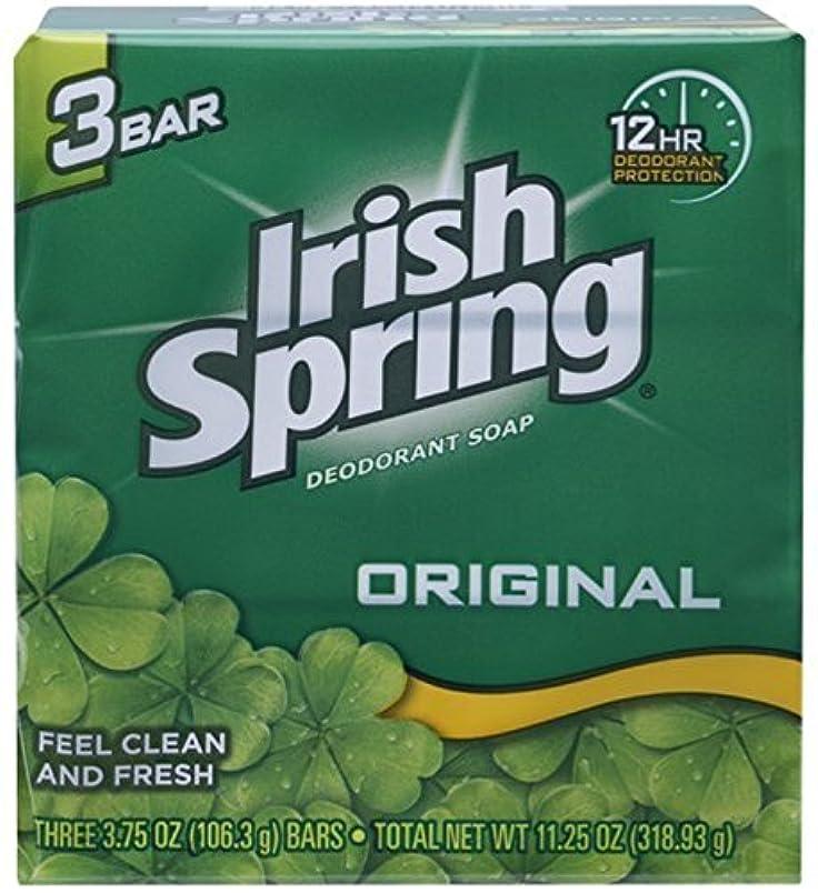 スチュワード画像残酷Irish Spring デオドラント石鹸、オリジナル、3.75オズバー、3 Eaは(12パック)