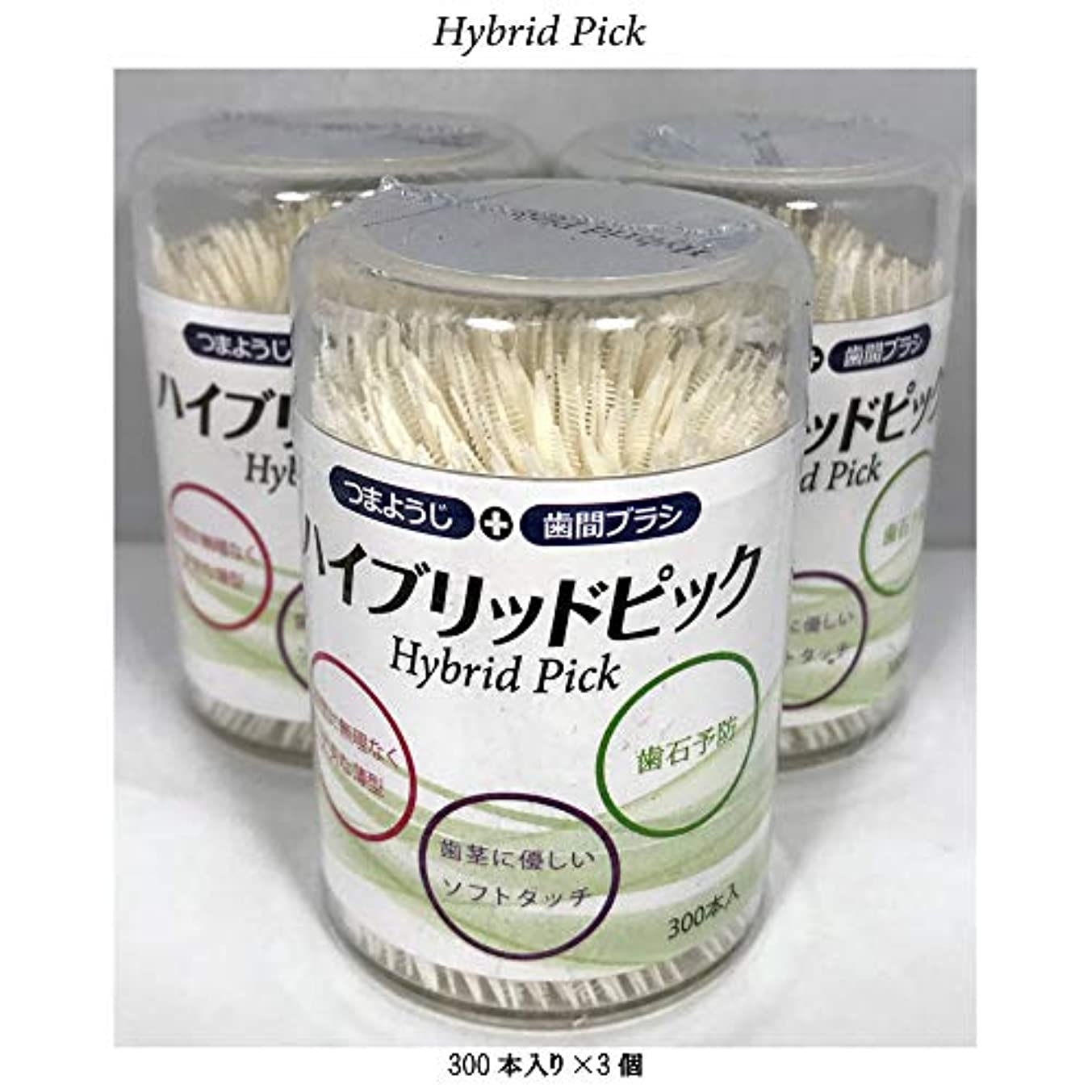 平方散歩扇動Hybryid Pick ハイブリッドピック 300本入り3個セット [並行輸入品]