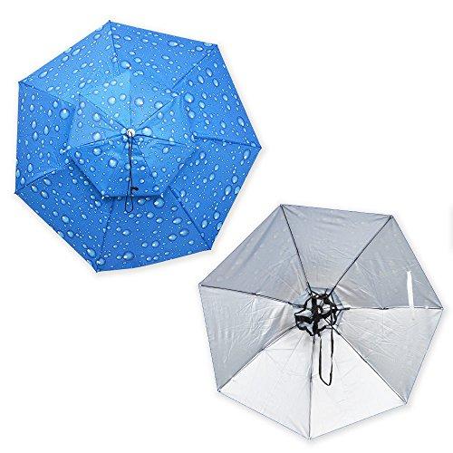 頭にかぶる便利な傘「アタマンブレラ」 HDUMBHAT かぶる傘 頭に被る アンブレラ 面白グッズ 秋雨 梅雨 園芸 カメラ撮影 買い物 荷物