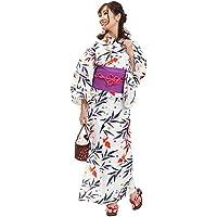 (オオキニ) 大喜賑 浴衣セット 22種から選べる レトロ 浴衣 レディース 帯 下駄 3点セット