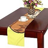 GGSXD テーブルランナー 面白い 牛 クロス 食卓カバー 麻綿製 欧米 おしゃれ 16 Inch X 72 Inch (40cm X 182cm) キッチン ダイニング ホーム デコレーション モダン リビング 洗える