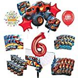 Mayflower Products Blaze and The Monster Machines 6歳の誕生日パーティー用品 8人のゲストデコレーションキットとバルーンブーケ