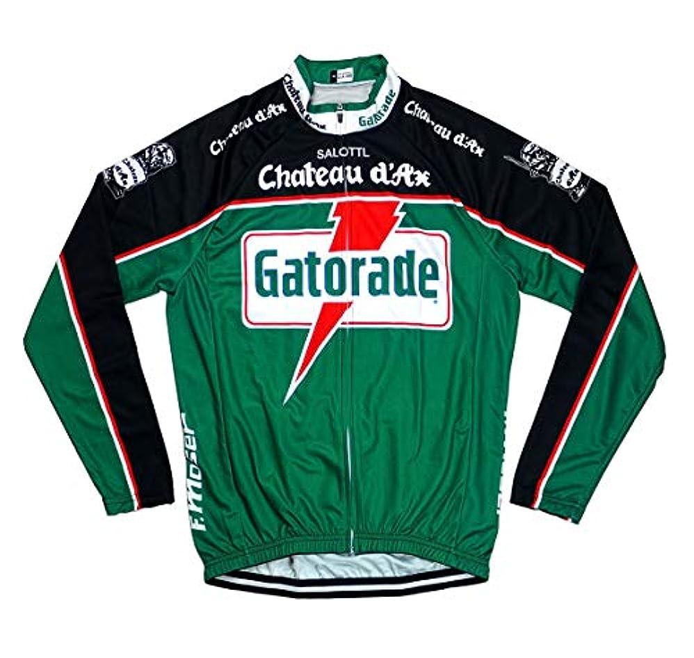 野球血色の良い六サイクルジャージ レトロデザイン 長袖 No17 イタリア メンズ クールマックス仕様 自転車 MTB サイクリング ロードバイク ロング
