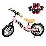 DABADA(ダバダ)バランスバイク プロテクター付き ペダルなし自転車 6ヵ月保証付き 全7色 (ピンク)