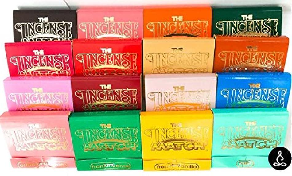 不屈解体する悪性腫瘍The Incense一致元香りつきMatches Mini Incense Stick – セットof 16 Unique Fragrances – 消臭、臭気エリミネーターby Soothing Treasures
