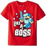 Minecraft (マインクラフト) キッズTシャツ Like a Boss Sサイズ