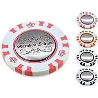 ポーカー カジノチップ スタイル ダブル ゴルフマーカー 名入れ 刻印 お洒落 フレーム デザイン
