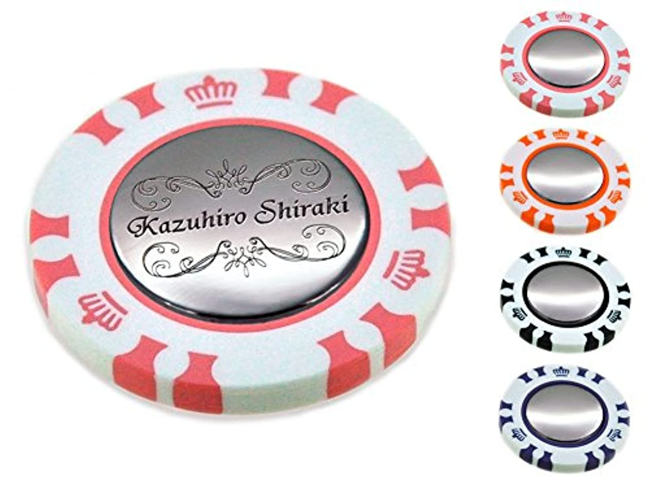 建築自分自身迷信ポーカー カジノチップ スタイル ダブル ゴルフマーカー 名入れ 刻印 お洒落 フレーム デザイン