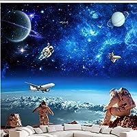 Wuyyii 紙の3D写真壁画宇宙星銀河の天井の部屋の寝室の背景の壁紙 - 120×100 Cm