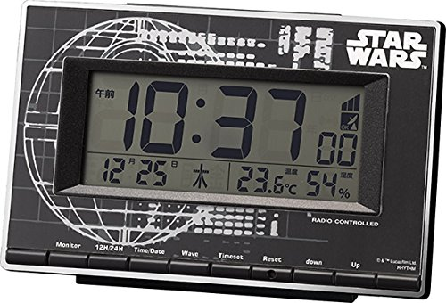 STAR WARS ( スターウォーズ ) 電波 目覚まし 時計 ローグ・ワン ( デス・スター ) 【 限定商品 】 黒 リズム時計 8RZ133MD02の詳細を見る